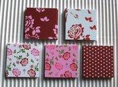 Serie Quadretti Deco^^ - *Lotto 2: Rose Vintage* MiniCartoncini decorativi per Scrap & Cardmaking