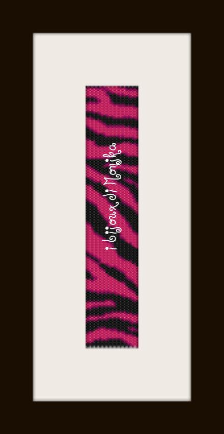 schema bracciale Zebrato siam in stitch peyote pattern - solo per uso personale