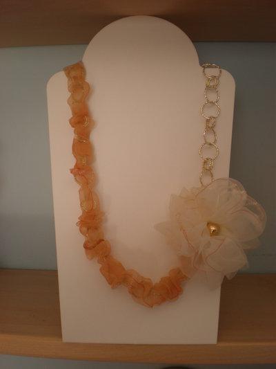 collana fiore organza