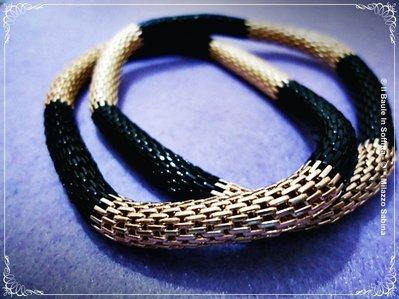 Bracciale Doppio a maglia tubolare elastico.
