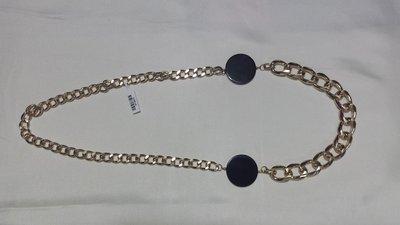 collana metallo dorato e dischi ceramica nera Luna Nera