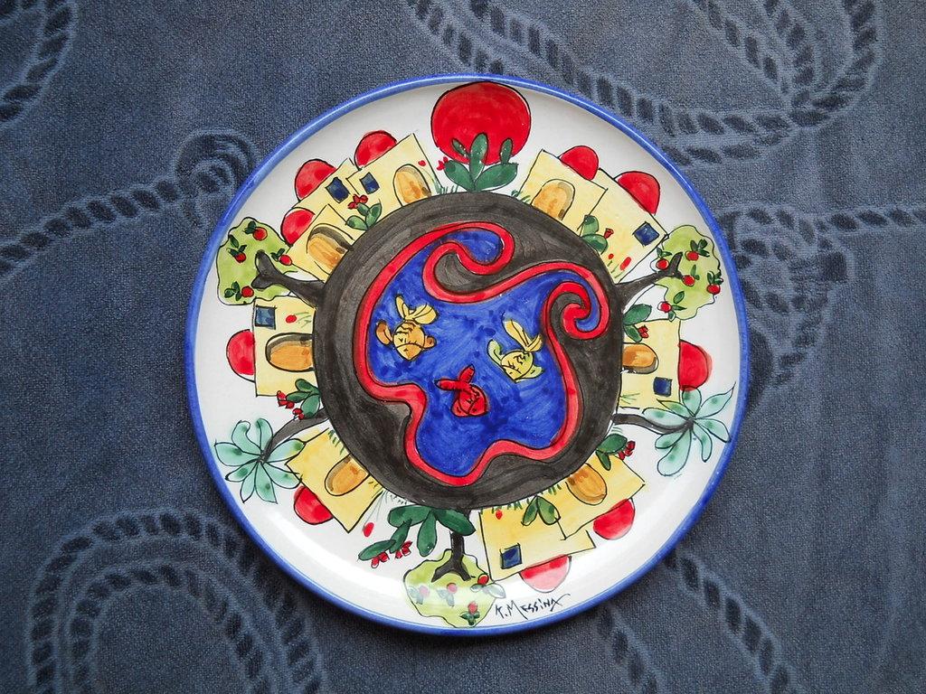 Piatto murale in ceramica fatto a mano per la casa e per te arr