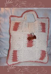 Borsa in corda e raffia marrone