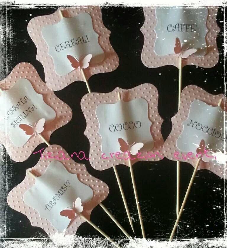 segnagusti con farfalle confettata