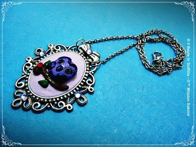 "Collana con Cabochon in Fimo - Serie: ""Romantic Cabochon"""