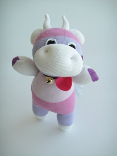 Sock toy - mucca