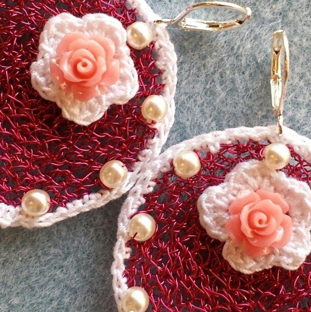 Orecchini crochet wire