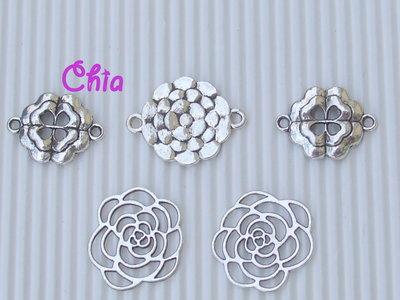 set 5 connettori link fiore
