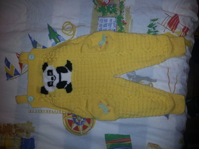 Tutina di lana baby per bimbo lavorata a maglia