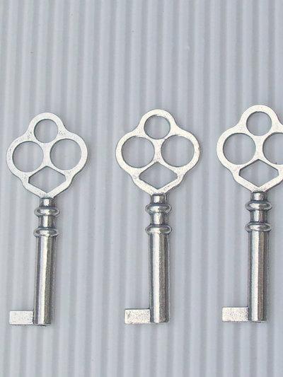 1 charm chiave chiavi metallo argentato