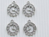 4 charms orologio 20x17 mm metallo vend.