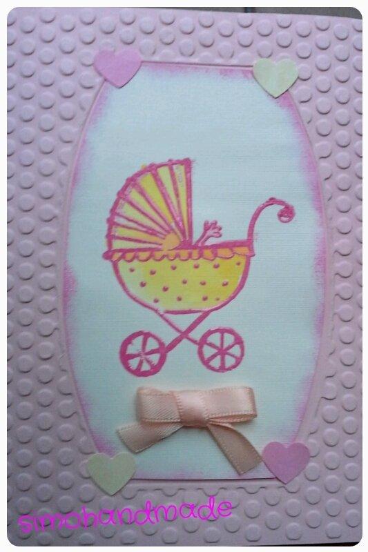 biglietto nascita bambina