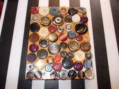 quaderno collage bottoni