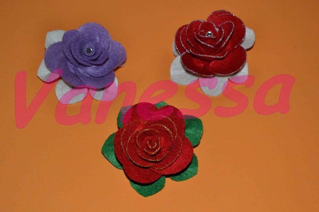 Spille in pannolenci - Rosa