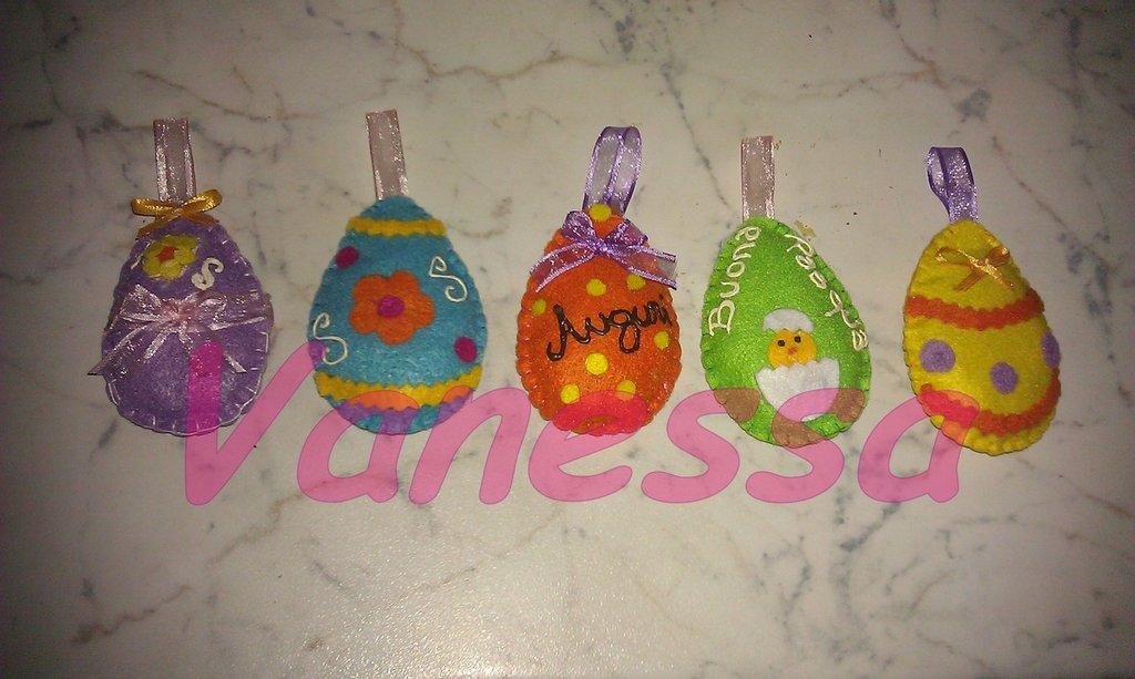 Ovetti di Pasqua in pannolenci