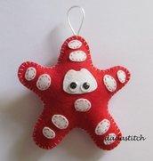Animaletto in feltro porta asciugamano forma stella marina