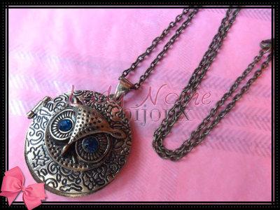 Collana con gufo vintage in argento tibetano anallergico