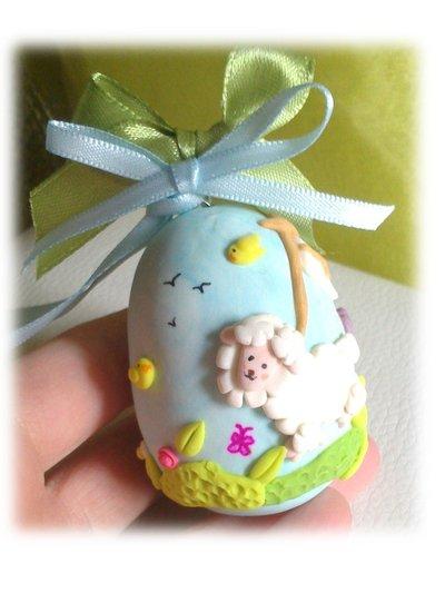 Uova pasquale, Uova di Pasqua da appendere (agnello primavera)