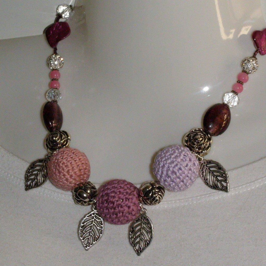 collana cotone rose