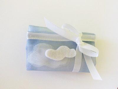 Set di 10 sacchetti portaconfetti con nuvole per ''fotoplano'': la bomboniera, calamita, cornice più originale!