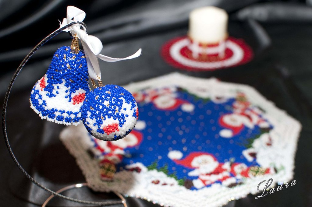 Centrino di Perline Babbo Natale