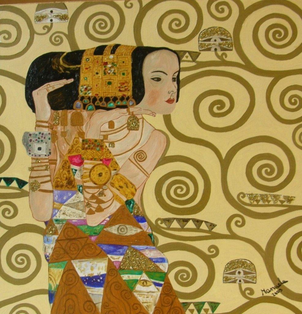 "Quadro ""L'attesa"" di Klimt (copia)"