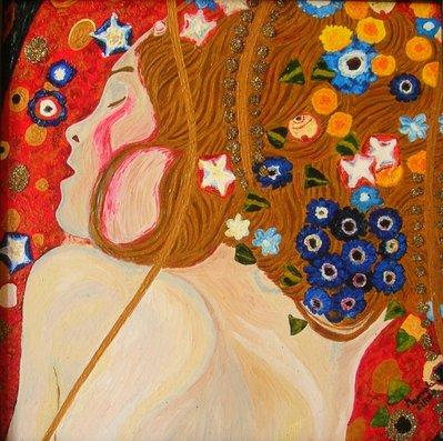 "Quadro ""Bisce d'acqua"" di Klimt (copia)"