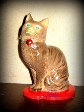 Gattino in gesso ceramico dipinto a mano
