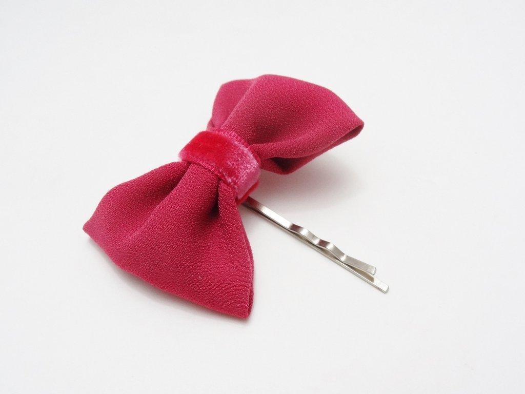 Fermaglio per capelli con fiocchetto fucsia //accessori per capelli, bambina, cerimonia