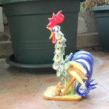 Gallo da combattimento in ceramica