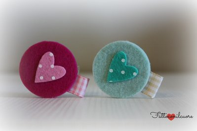 bomboniera portachiavi o magnete  cuore pois
