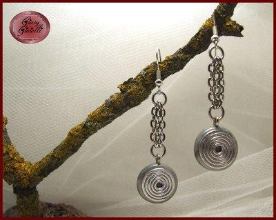 Orecchini con spirale in alluminio