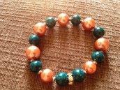 Bracciale elasticizzato con perle colorate
