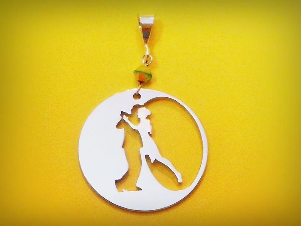 Ciondolo tango Eclipse oro bianco Adornos