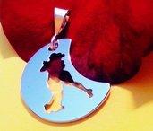 Ciondolo tango Lunita oro bianco Adornos