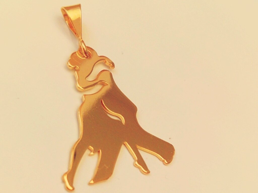 Ciondolo Tango Abrazo oro giallo Adornos