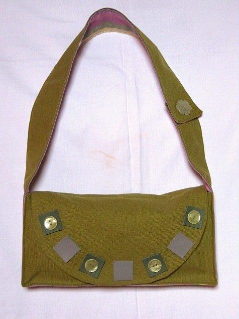 borsetta in tessuto verde