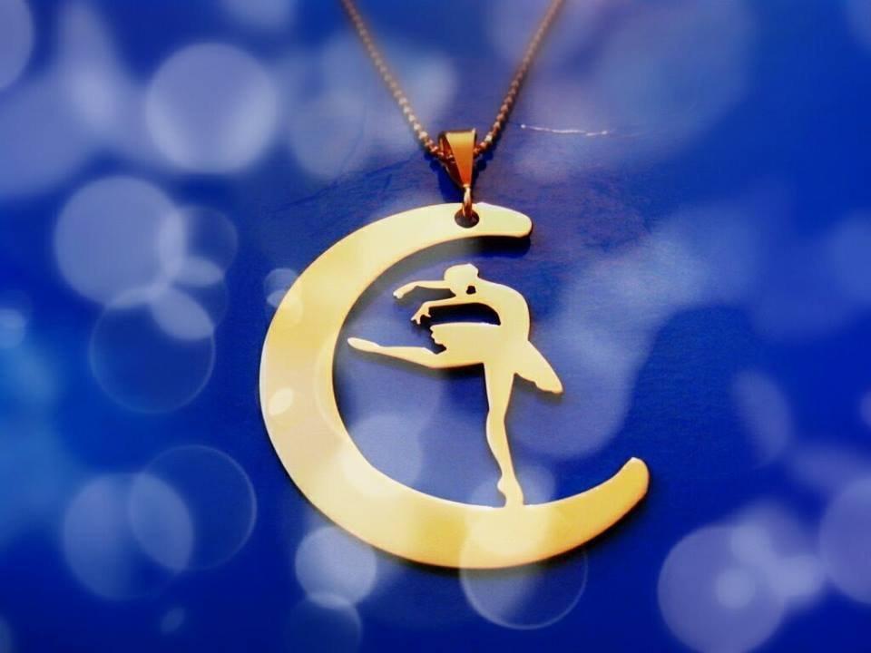 Ciondolo Ballerina Infinity oro giallo Adornos