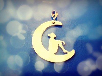 Ciondolo Moon Dream  oro bianco Adornos