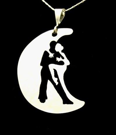 Ciondolo Tango Agarrame oro bianco Adornos