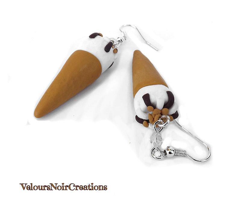 orecchini gelato cornetto algida in fimo
