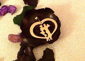 Ciondolo tango Corazòn piccolo oro giallo Adornos