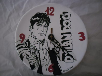 Orologio dipinto a mano Dylan dog