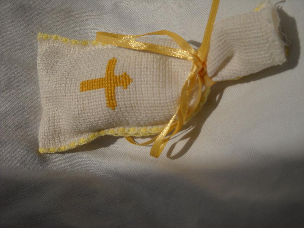 sacchetto in tela aida