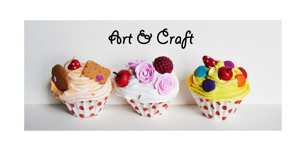 cup cake in fimo