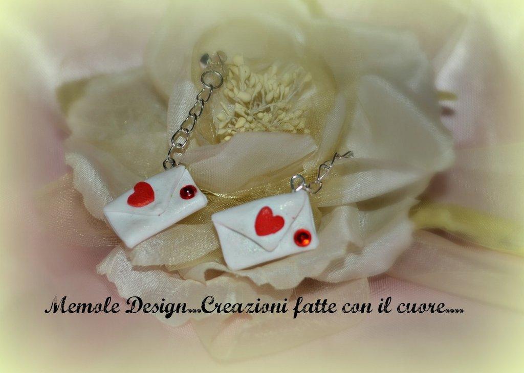 orecchini lettere d'amore