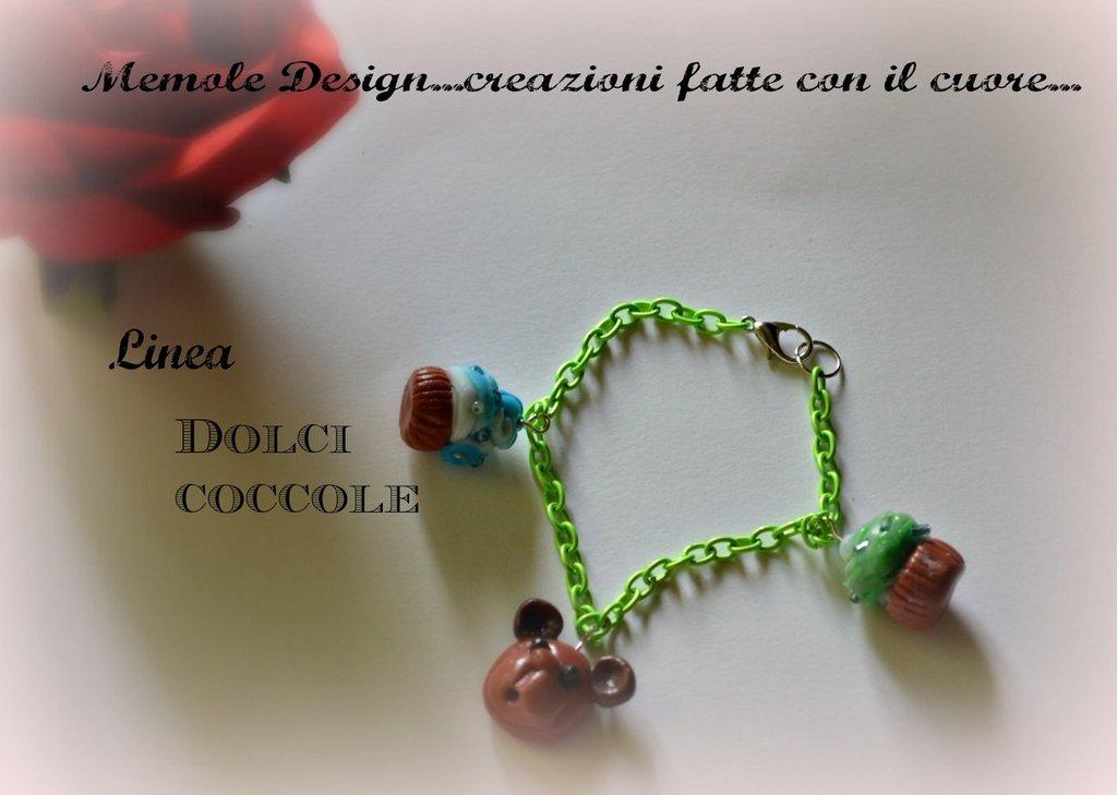 braccialetto cupcake Memole design