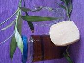 Sapone shampoo solido olio di semi di lino e birra, lucentezza e idratazione per i capelli!