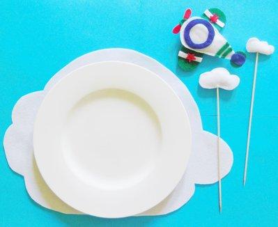 Set bomboniere 'Fotoplano da 20': bomboniere, sacchetti portaconfetti, banderuole, cupcake-topper, decorazioni per centrotavola e sottopiatti