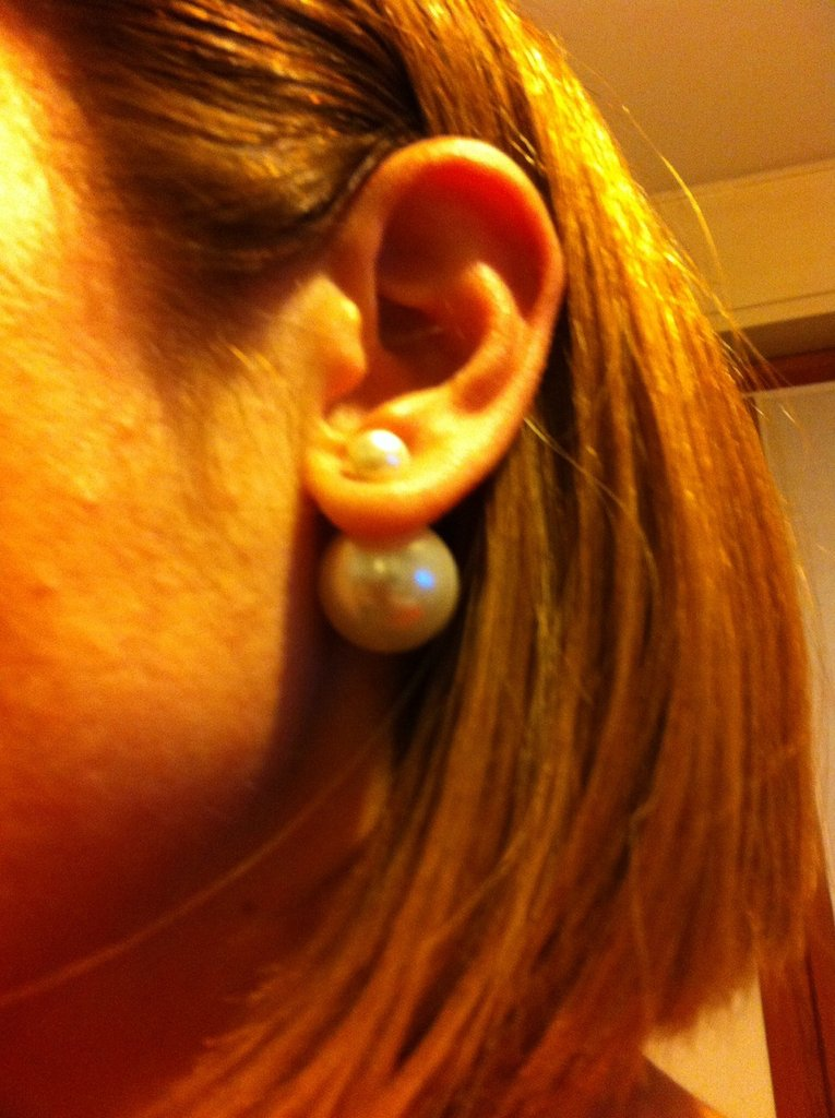 Orecchini stile Dior collezione tribal con perle